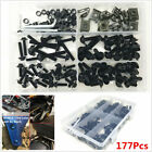 177Pcs Motorcycle Bodywork Fairing Bumper Panel Bolts Kit Fastener Clips Screw