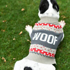 Pet Dog Puppy Knitted Sweater Winter Warm Clothes Knitwear Dog Apparel US Stock