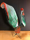 Murano Italy Art Glass Rooster Chicken Statue Figurine 1175 Tall