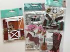 Cowgirl Scrapbooking Stickers Lot Jolees Horse Boots Stable Hat Equestrian Barn