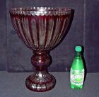 Vintage Bohemian Brilliant Ruby Red Cut to Clear centerpiece bowls