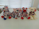 TY Beanie Babies set of 4 - Lefty 2004, Righty 2004, Red, Libert-e Patriotic