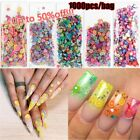 Beauty Nail Stickers 3D Fruit Feather Flowers Nail Art Decoration Polymer Clay