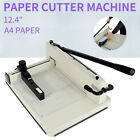 Heavy Duty Guillotine Paper Cutter 124 Trimmer Commercial Metal Base A4 Paper