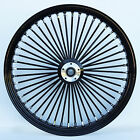 Black 48 King Spoke 21 x 35 Dual Disc Front Wheel for Harley Custom Bagger
