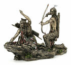 Native American Indian Warriors Hunting Statue Sculpture Figure GIFT BOXED