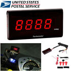 Racing Motorcycle RPM Digital Square LCD Display Engine Tach Meter Tachometer