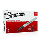 Sharpie Fine Point Permanent Markers Box of 12 Black 30001 Free Shippi