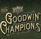 2019 UPPER DECK GOODWIN CHAMPIONS FACTORY SEALED HOBBY BOX
