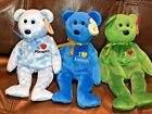 Lot of 3 TY Beanie Babies - MINNESOTA / LOUISIANA / NEW JERSEY