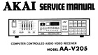 AKAI AA-V205 Schematic Diagram Service Manual Schaltplan Techniques