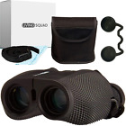 Living Squad 10x25 Binoculars for Adults Compact with Dust Cover High Power