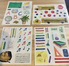 Creative Memories Scrapbook Stickers Lot of 4 Sheets school days times titles
