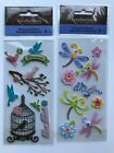 Recollections Birds Dragonflies Scrapbook Stickers Lot Cage Flowers Dream Love