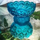 Stars Colonial Blue Scalloped Rim Footed Bowl Candy Dish
