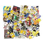 50pcs Lot The Simpsons Vinyl Stickers for Truck Skateboard Luggage Laptop Decal