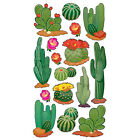 Scrapbooking Stickers Sticko Desert Cactus Flowers Different Shapes Sizes