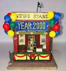 LeMax Village Collection Millennium 2000 Celebration Poly-resin News Stand
