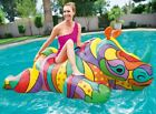 Pool Floats For Adults Kids Fun Rhino Inflatable Large Ride On Swimming Raft Toy