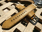 24 mm handmade , vintage leather watch strap .For Panerai .Classic collection .