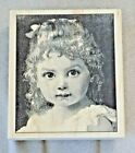 2001 Renaissance Art Old Fashioned Girl Portrait Face Rubber Mounted Stamp