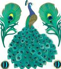 Jolees Boutique Dimensional Peacock Bird Zoo Animals Stickers