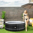 4 Person Inflatable Hot Tub Portable Outdoor Bubble Leisure Massage Spa Black