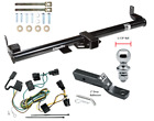 Trailer Tow Hitch For 98 06 Jeep Wrangler TJ Complete Package Wiring 1 7 8 Ball