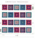 Scott 3524 3527Amish Quilts Sheet of 20 34 cent US postage stamps