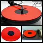 Gloss Red Acrylic Turntable Platter Mat Fits REGA PRO JECT Record Player