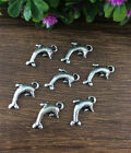 Wholesale 12pcs Tibet silver Dolphins Charm Pendant beaded Jewelry Findings
