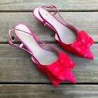 Womens KATE SPADE Daxton Kitten Heel Red Pink Hearts Slingback Pump~size 8 M