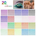 3300 Pieces Self Adhesive Rhinestone Sticker Bling Craft Jewels Carnival Makeup
