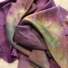 Hand Dyed silk Fabric silk charmeuse  16 x 52 Inches