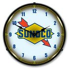 Sunoco Logo LED Lighted Wall Clock ~ Made in USA ~