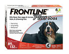 Frontline Plus For Dogs 89 132 lb 3pack Free Shipping
