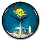 Sunoco Gas LED Lighted Wall Clock ~ Made in USA ~