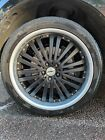 4 Calibre 22 Inch Wheels black with tyres 285 35 22