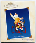 2003 TOYMAKER SANTA NEW Hallmark Riding On Spring ROCKING HORSE Ornament SO CUTE