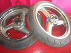 ZX7 ZX7r ZX 7 R 7R 750 Kawasaki Ninja Front Rear Polished Wheel Tire Rim 93-95