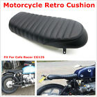 1x Motorcycle Soft Seat Racing Style Bike Comfortable Black For Cafe Racer CG125