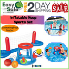 Floating Pool Basketball Hoop Volleyball Net Games Toys Inflatable Set Water
