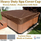 Hot Tub Spa Cover Cap Heavy Duty Protector Water Resistant Woven Fabric Anti UV
