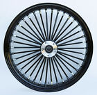 Black Ultima 38 King Spoke 21 x 35 Front Dual Disc Wheel for Harley