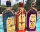 Glass Potion Bottles Vintage Halloween Apothecary Jar Witch Home Decor 9 New