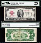Awesome RARE KEY 1928 B 2 RED SEAL US Note PMG 25 FREE SHIPPING A93507312A