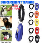 New Pet Cat Dog Training Clicker Trainer Adjustable Sound Key Chain Dog Whistle