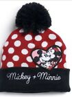 New With Tags Disney's Mickey And Minnie Mouse Polkadot Red Beanie One Size