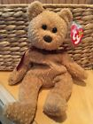 RARE RETIRED CURLY THE BEAR ORIGINAL BEANIE BABY TY PVC Pellets Tag ERRORS