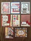 Lot of 8 handmade fall autumn cards Thanksgiving Thinking of You etc